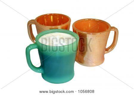 Three Vintage Coffee Mugs