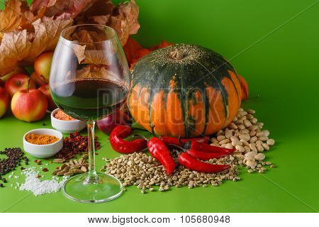 Fall Red Wine With Onion And Pepper