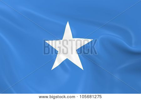 Waving Flag Of Somalia - 3D Render Of The Somalian Flag With Silky Texture