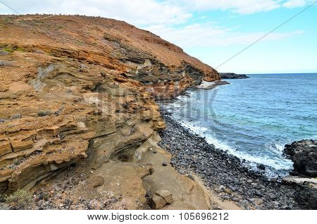 Volcanic Rock Basaltic Formation in Canary Islands poster