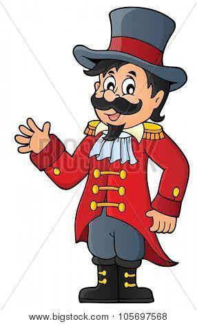 Circus ringmaster theme image 1 - eps10 vector illustration.