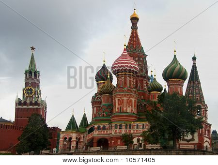 Saint Basil's Cathedral on Red Square in Moscow.