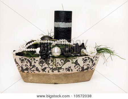 Christmas black candle