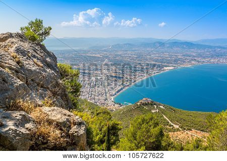 Panoramic View Of Loutraki, Greece