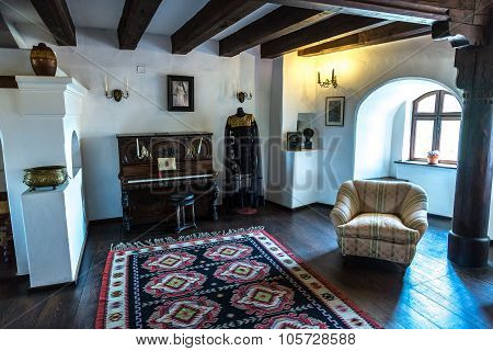 Interior Of Bran Castle  In Transylvania
