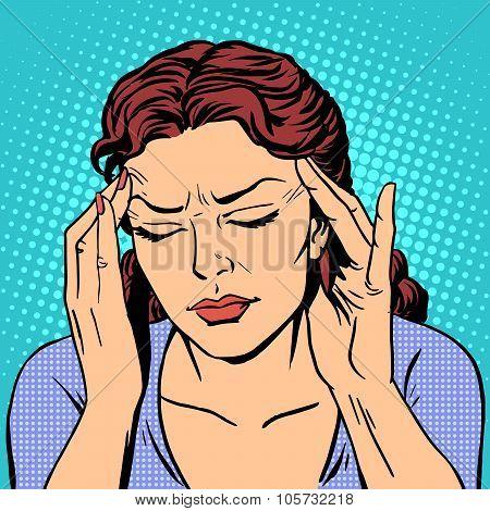 Headache health medicine woman
