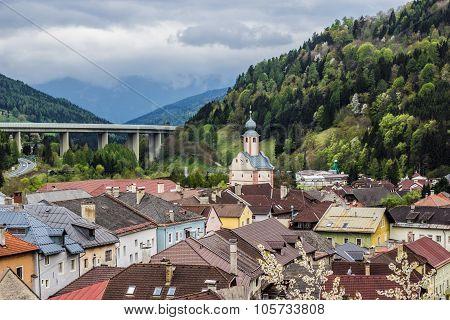 Medieval city. Gmuend, Austria.