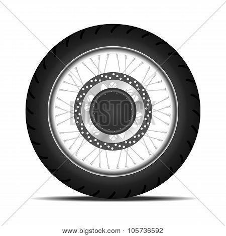 black motorbike wheel