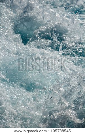 Splashy shiny water foam surface texture abstract background poster