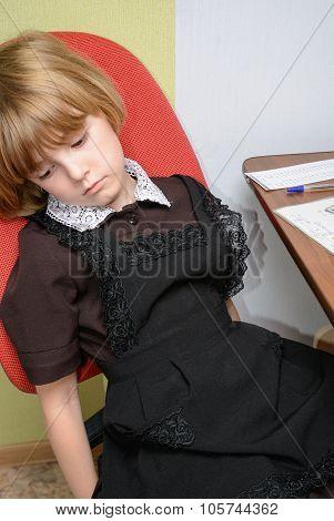 Schoolgirl Learning Homework