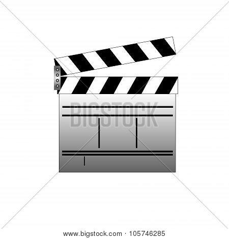 Cinema slate board . Concept flat style design illustration icon