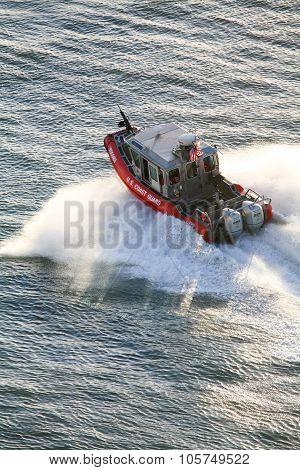 Us Coast Guard Motorboat Sailing