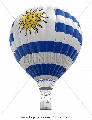 Hot Air Balloon with Uruguayan Flag (clipping path included)