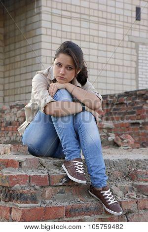 Wailful Young Woman