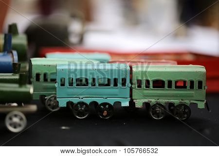 Retro Scale Model Of Wagons