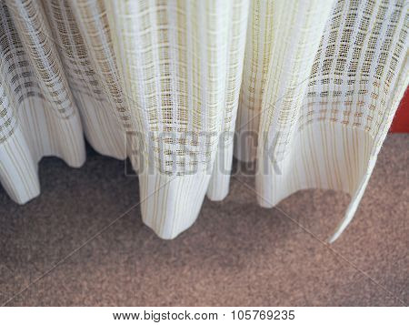 White And Green Curtain