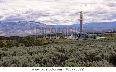 Drill Rig On Colorado's Western Slope