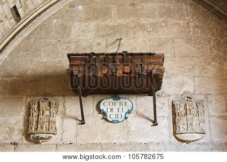 Chest Of El Cid In Burgos Cathedral