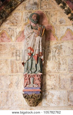 Statue Of Saint Peter In The Cathedral Of Burgos