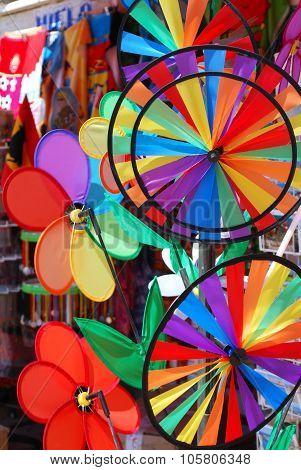 Childrens toys outside shop, Fuengirola.