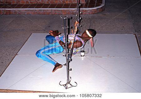 Limbo Dancer in the Caribbean.