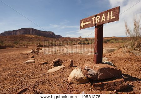 Trail Panel In Monument Valley