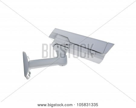 Heavy Duty Exterior Surveillance Camera Back View Isolated On White
