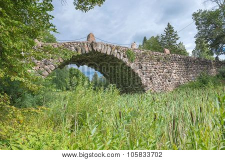 Hundred-meter Boulder-arch Bridge With Two Grotto - Aviary, Called By Locals