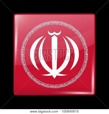 Iran Variant Emblems. Glassy Icon Square Shape