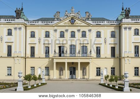 Facade Of  Branicki Palace In Bialystok, Poland