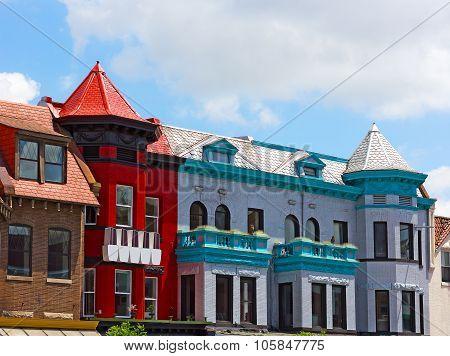 Historic district of Washington DC USA.