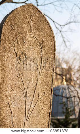 An Ottoman Gravestone At Eyup, Istanbul