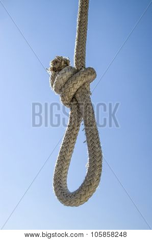 White Rope Gibbet Closeup