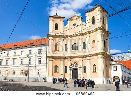 Trinitarian Church At Zupne Square In Bratislava