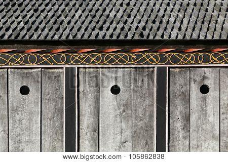 Details of a viking church in Moesgaard, Denmark
