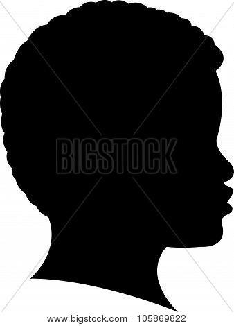 a black girl head silhouette
