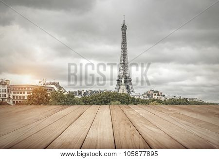 Eiffel tower in Paris.