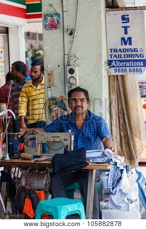 Street Tailor In Little India, Singapore