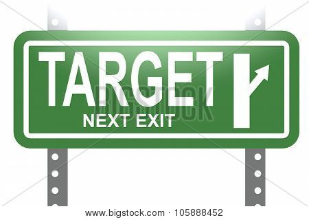 Target Green Sign Board Isolated