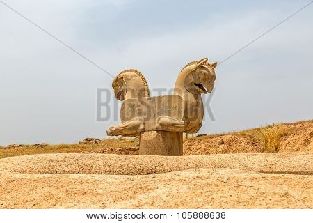 Homa Bird in Persepolis