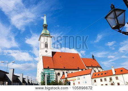 St. Martin Cathedral From Rybne Square Bratislava