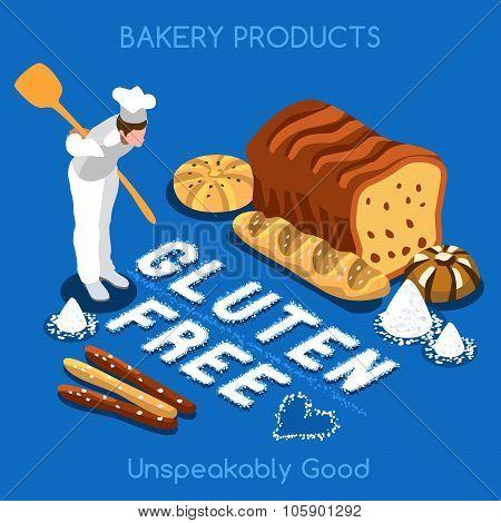 Bakery Food Isometric