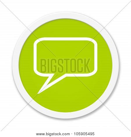 Round Button Showing Speech Bubble