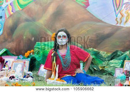 Girl With Sugar Skull