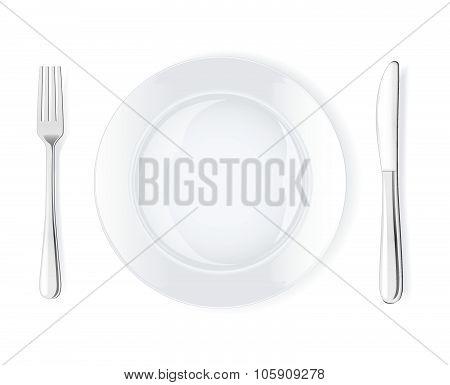 Dinner place setting, vector illustration