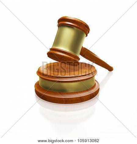 Judge Gavel Mallet Isolated On White