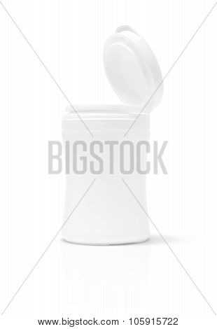 Blank Packaging Supplement Product Bottle Isolated On White Background