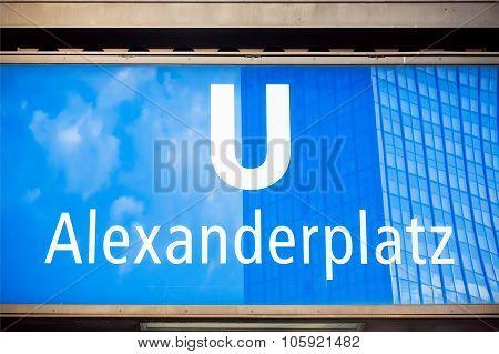 U-bahn Station Alexanderplatz In Berlin