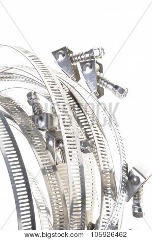 Metal hose clamps