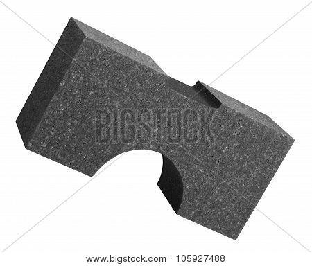 formed part of dark polystyrene in white back poster